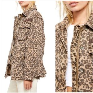 Free People Leopard Seize The Day Jacket